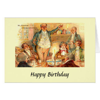 """Birthday Card - Charles Dickens, """"Pickwick Papers"""""""
