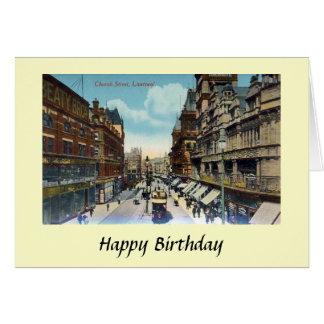 Birthday Card - Church Street, Liverpool