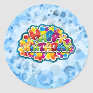 Birthday  Card Classic Round Sticker