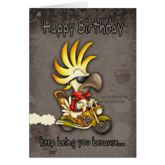Birthday Card - Cockatoo Birthday Card - Cool