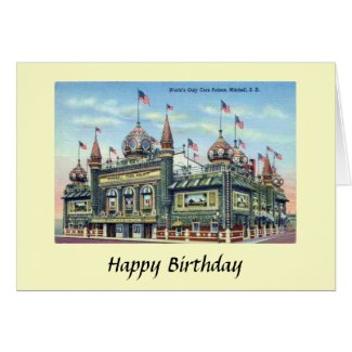 Birthday Card - Corn Palace, Mitchell, S Dakota