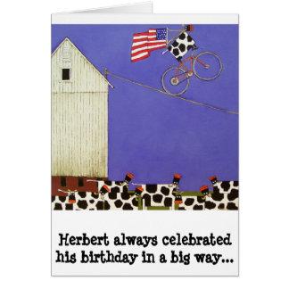 birthday card cows humorous