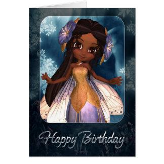 Birthday Card - Cute Blue Fairy