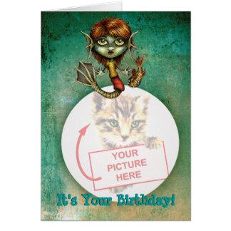 Birthday Card - Cute Mermaid (add your pic)