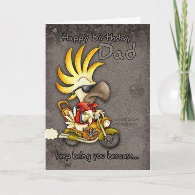 Birthday Card - Dad Birthday Card - Cockatoo Birthday C