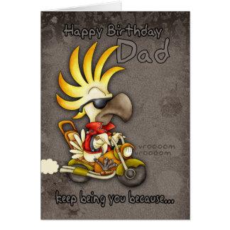 Birthday Card - Dad Birthday Card - Cockatoo Birth