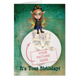 Birthday Card - Fairy Aviator (add your pic)