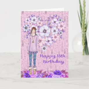 Birthday Card For 13 Year Old Girl