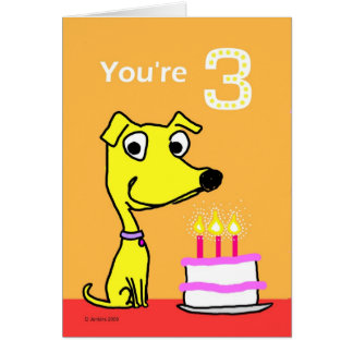 birthday card for 3 year old