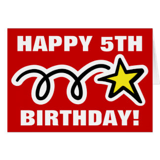 Birthday Card for 5 year old kid - Customizable