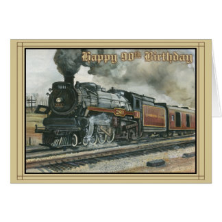 Birthday Card for 90 years with Train