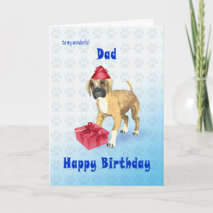 Birthday Card For A Dad With Puppy