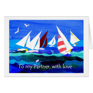 Birthday Card for a Partner - Sailing