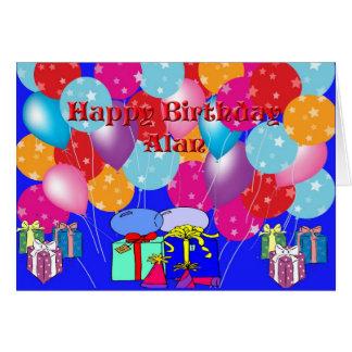 Birthday Card For Alan