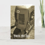 """Birthday Card for an Oldtimer<br><div class=""""desc"""">This classic farm machine conveys time worn body,  but beautiful still! Tell them Happy Birthday with a classic tool.</div>"""