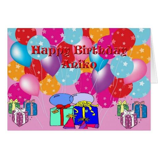 Birthday Card For Aniko