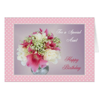 Birthday card for Aunt - Bouquet of flowers