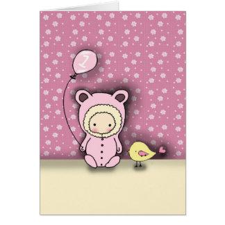 Birthday Card for Baby Girl Turning 1