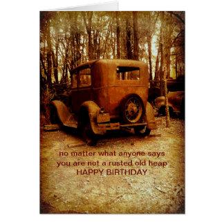 birthday card for classic car fan humorous photo