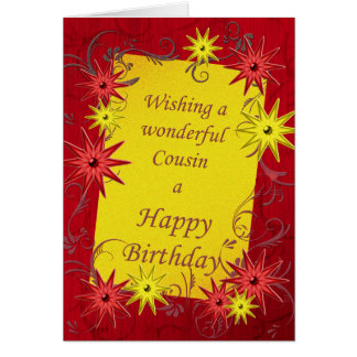 Birthday card for cousin