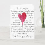 """Birthday card for daughter with heart and words<br><div class=""""desc"""">Original quote and watercolor heart from my collection.</div>"""