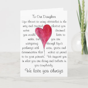Birthday Card For Daughter With Heart And Words