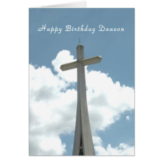 Birthday Card for Deacon with Cross