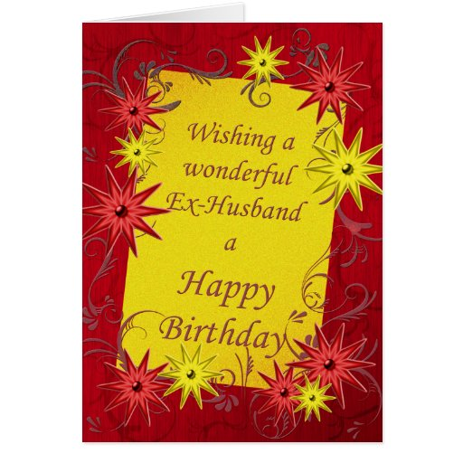 Birthday Card For Ex-husband