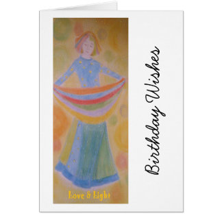 Birthday card for female, original artwork,