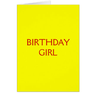 Birthday Card For Girl