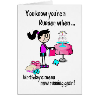 Birthday Card for Girl Runner