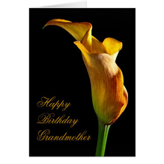 Birthday card for grandmother with an arum lily