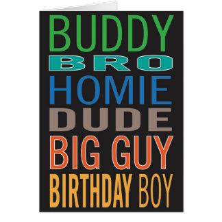 Birthday card for guy / male / man friend