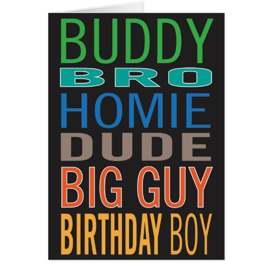 Birthday card for guy / male / man friend   Zazzle.com