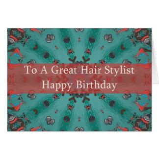 Birthday Card For Hair Stylist