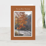 "Birthday Card for Husband -- Autumn Stream<br><div class=""desc"">This gorgeous photo of an autumn stream makes a nice birthday card for husband.  Image and verse  Kathy Henis</div>"