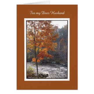 Birthday Card for Husband -- Autumn Stream
