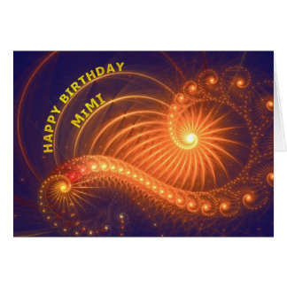 Birthday card for mimi