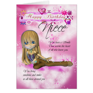 Birthday card for Niece, Moonies Cutie Pie collect
