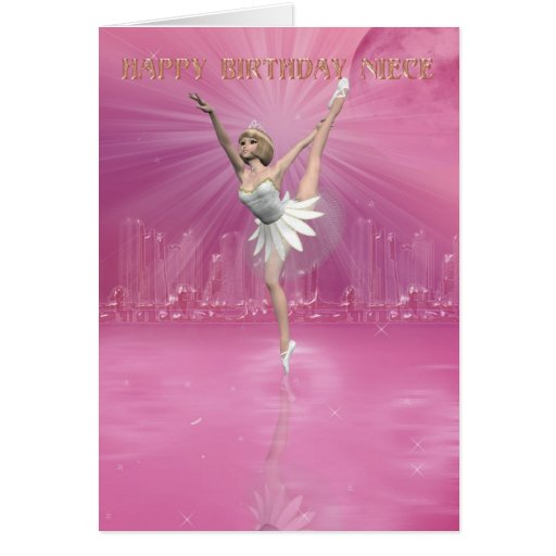 Birthday Card For Niece With Ballet Dancer