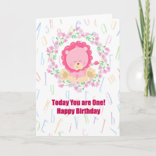 Birthday Card For One Year Old Child