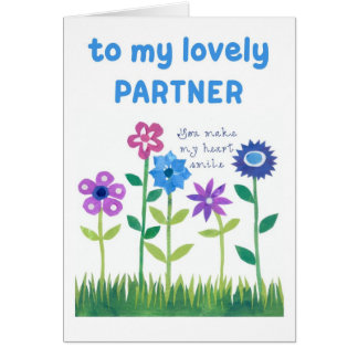 Birthday Card for Partner - Flower Power