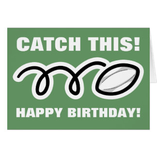 Birthday card for rugby fans and players