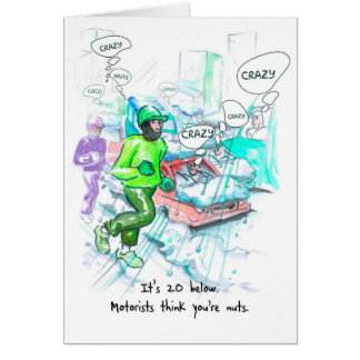 Birthday Card for Runner - Crazy Runners