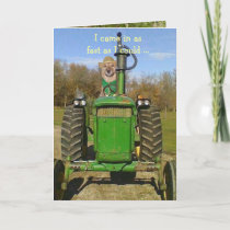 Birthday Card for Tractor Fans