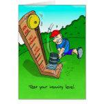 Birthday Card for Triathlete - Insanity Level