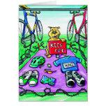 Birthday Card for Triathlete - Keep Off