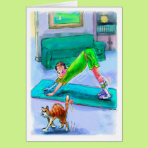 Birthday Card for Yoga Lover - Downward Dog