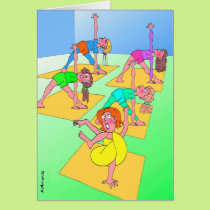 Birthday Card for Yoga Lover - Twisted Yoga