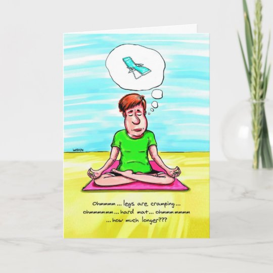 Birthday Card For Yoga Lover Yoga Chair Zazzle